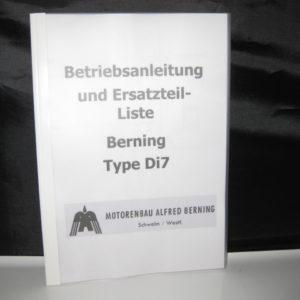 Ersatzteilliste Berning Di7 [en]